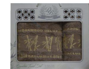 Набор полотенец Бамбук  Коричневый 2 шт