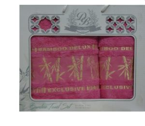 Набор полотенец Бамбук  Фуксия 2 шт