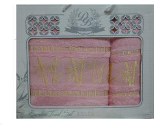 Набор полотенец Бамбук  Розовый 2 шт