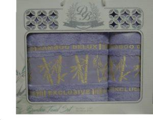Набор полотенец Бамбук  Сирень в пыльце 2 шт