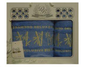 Набор полотенец Бамбук  Голубой 2 шт