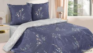 Комплект постельного белья поплин Нордли евро на резинке