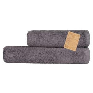 Махровое полотенце Бамбук Diplomat Серый