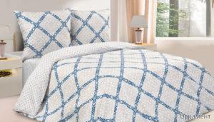 Комплект постельного белья поплин Орнамент Дуэт