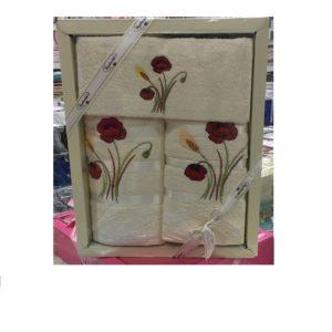 Набор махровых полотенец 3 шт Крем