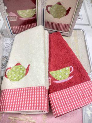 Набор кухонных салфеток Чайник+чашка 2 шт.