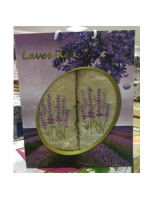 Набор махровых полотенец Лаванда Крем