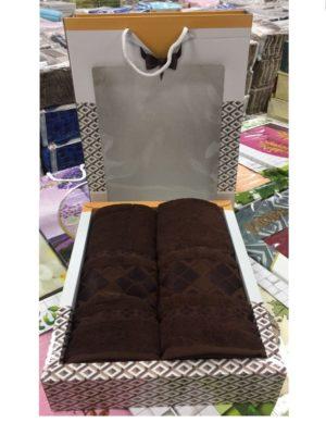 Набор махровых полотенец Однотонный Шоколад