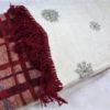Плед Ozdilek Red Winter хлопок с кистями