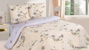 Комплект постельного белья поплин Амазонка 2,0 на резинке