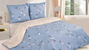 Комплект постельного белья поплин Аванти евро на резинке