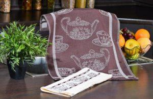 Набор полотенец для кухни Кофе коричневый 2 шт