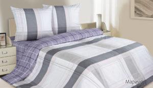Комплект постельного белья поплин Мариус евро на резинке