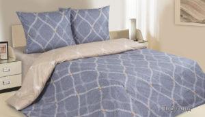 Комплект постельного белья поплин Портленд евро на резинке