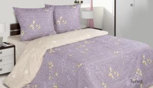Комплект постельного белья поплин Тьена евро на резинке