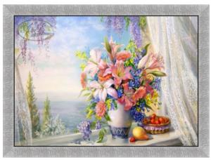 Картины Букет с гладиолусами репродукция
