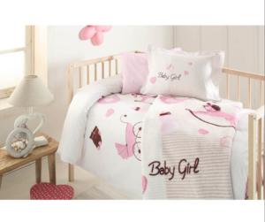 Набор в кроватку покрывало+постельное белье Ozdilek Baby Girl
