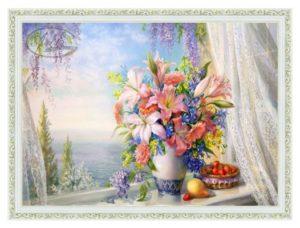 Картина Букет с гладиолусами репродукция