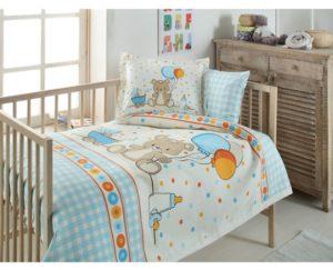 Комплект постельного белья с покрывалом ясли Ozdilek Funny Time