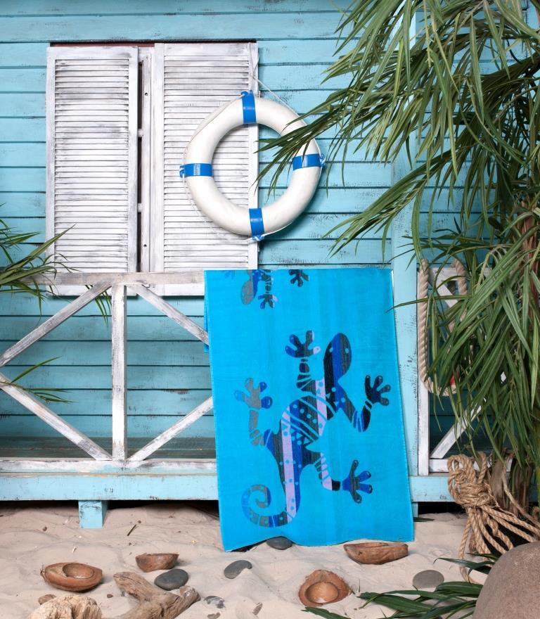 Пляжное полотенце Ящерка