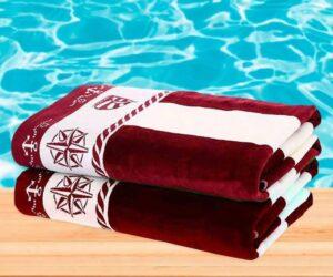 Пляжное махровое полотенце Ozdilek Pusula  бордо
