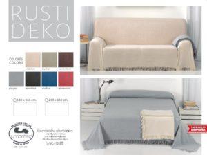 Покрывало на кровать/диван Rustica 1 Black (Испания)