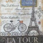 1062-3hN Наволочка 50х50 Париж. Эйфелевая башня ( La Tur )