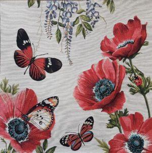 Наволочка декоративная Бабочки и маки