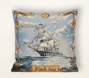 Наволочка декоративная Черное море компас