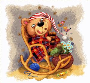 Наволочка декоративная Медвежонок в кресле