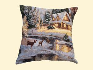 Наволочка декоративная Зимний домик
