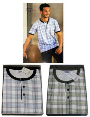 Мужская пижама Denny`S 2332 Bianco/Bleu 48 размер