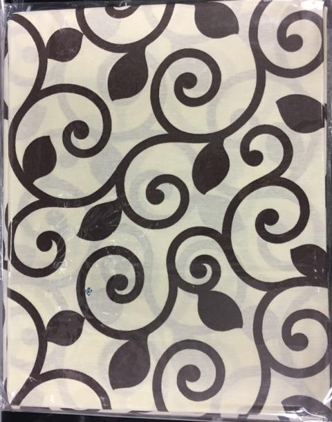 Скатерть  с пропиткой Гарден-Е Орнамент коричневый