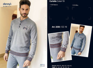 Мужская пижама Denny`S 2236 Antracite 58 размер