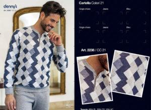 Мужская пижама Denny`S 2238 Bleu 60 размер