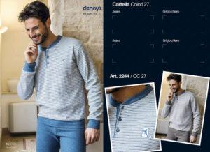 Мужская пижама Denny`S 2244 Grigio 56 размер