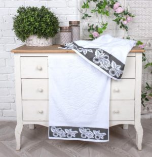 Махровое полотенце Бренчес серый
