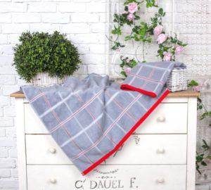 Махровое полотенце Квадрат серый