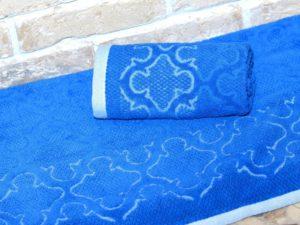 Махровое полотенце Лагуна синий