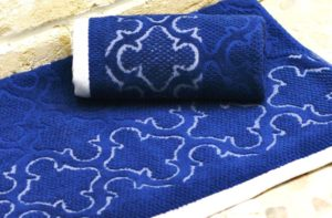 Махровое полотенце Лагуна темно-синий