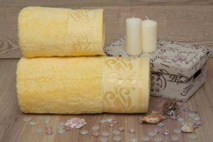 Махровое полотенце Люси желтый