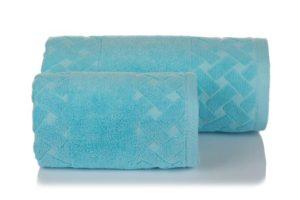 Махровое полотенце Мотив голубой