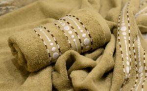 Махровое полотенце Волна песочный