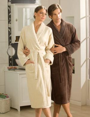 Махровый халат Angora мужской коричневый разм. XL
