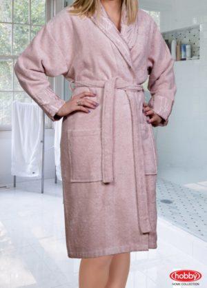 Махровый халат Eliza женский пудра разм. S