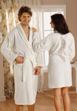 Махровый халат ESTIVA крем женский разм. S