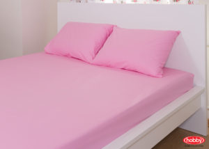 Комплект простынь на резинке+2 наволочки Hobby Home розовый