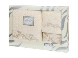 Махровые банные полотенца с вышивкой Valentini арт.10002 103 (Португалия)