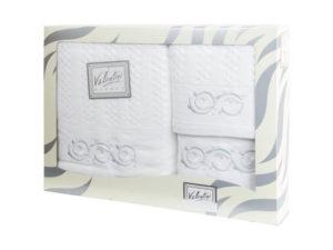 Махровые банные полотенца с вышивкой Valentini арт.10003 101 (Португалия)