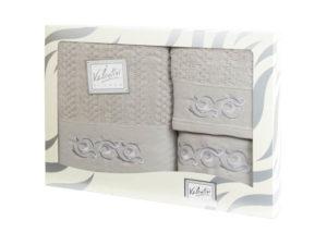 Махровые банные полотенца с вышивкой Valentini арт.10003 1117 (Португалия)